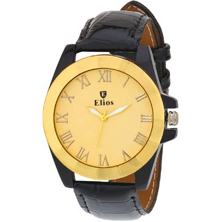 Elios Original Golden Dial Mens Analogue Watch EWM0034