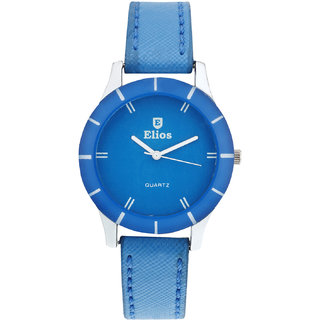 Elios Colors Monochrome Analog Blue Dial Womens Watch