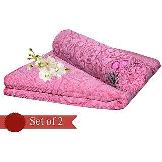 Exclusive Cotton Bath towel - set of 2 Pink