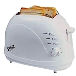 Orpat OPT-1057 Pop Up Toaster  (White)