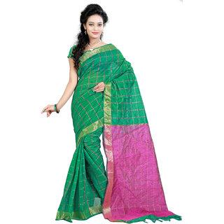 Fashionoma Multicolor Cotton Checks Saree With Blouse