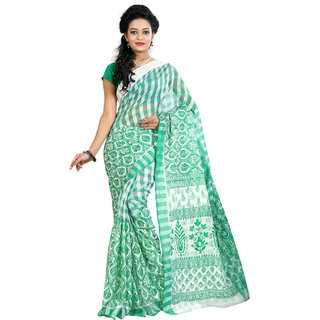 Fashionoma Self Design, Checkered Fashion Cotton Sari