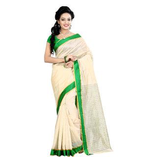 Fashionoma Self Design, Striped Fashion Cotton Sari