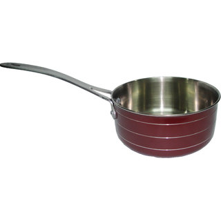 ETHICAL STAINLESS STEEL SAUCE PAN - RED