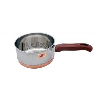 Hazel Sauce Pan Copper Bottom - Ex Large S12 Steel Vessel With Copper Bottom Plate Handle Pans