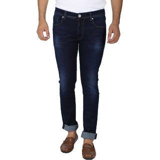Easies Cotton Slim Fit Blue Jeans For Men