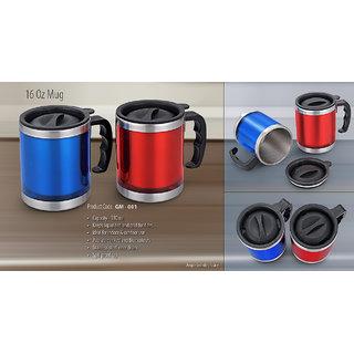 Stainless Steel Mug(double wall steel mug) BLUE,GREEN,RED