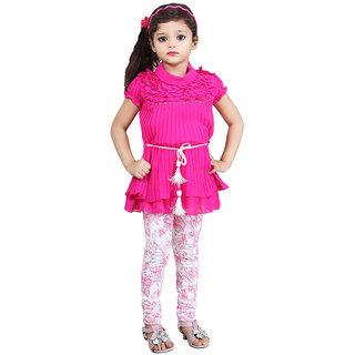 Daga Frock And Legging - Pink - 8232 -30