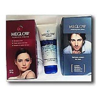 combo MEGLOW FAIRNESS CREAM MEN + WOMEN + FACE WASH COMBO PACK