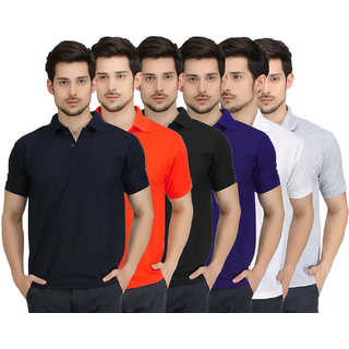 Krazy Katz Premium Polo Neck T Shirts For Men (Pack of 6)