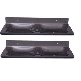 Easyhome Furnish Buy 1Get 1 Pieces Acrylic Double Soap Dish Eba-A-1082B