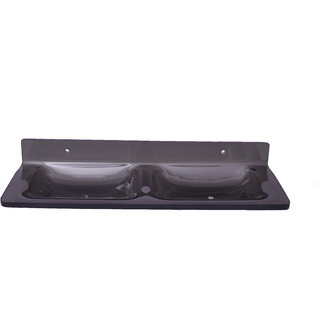 Easyhome Furnish Acrylic Double Soap Dish Eba-A-108B