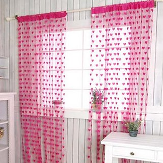 Set of 2 Beautiful Summer Heart Curtain