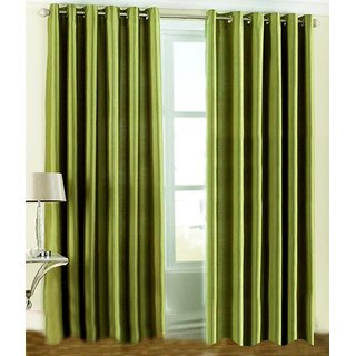 k decor green plain curtain fabric(5 mtr)