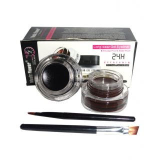 Music Flower Long Lasting Gel Eyeliner (smudge-proof) Black And Brown