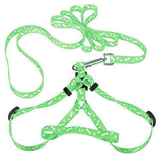 Futaba Pet Traction Rope Nylon Leash Harness Chest Collar Drawing Neck Lead Strap - Green