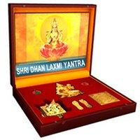 Shree Dhan Laxmi Varsha Yantra Genuine - Free Sai Siddhi Kawach Worth Rs. 999