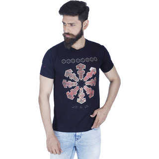 Integriti Black Printed T-Shirts For Mens