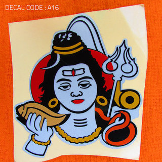 Buy Lord Shiva Multi Colour Radium Decal for Bike and Car Online ... 780c6a1ed