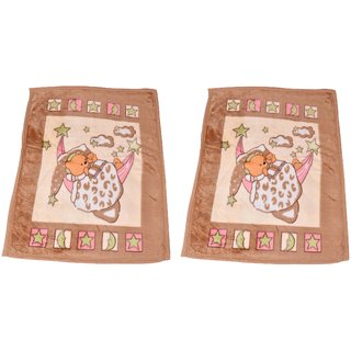 Casa Gracia Cartoon Design Soft Reversible Multiweather Baby Blanket (Set of 2)