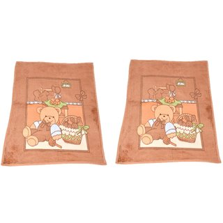 Casa Gracia Cartoon Design Baby Ac Blanket (Set of 2)