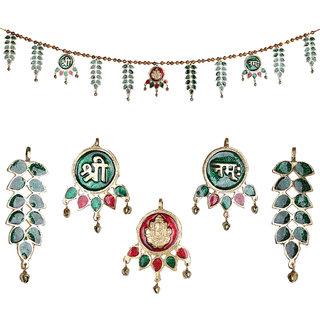 Jaipuri Haat German Silver Made Superior Quality Decorative Ethnic Bandarwal Toran Door Hangings