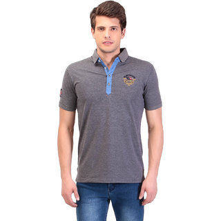 TAG 7 Grey Polo T Shirt For Men