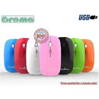 Terabyte Sleek USB Mouse - Multi Colour