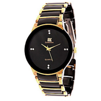 Iik Collection Black Metal Analog Watch For Men