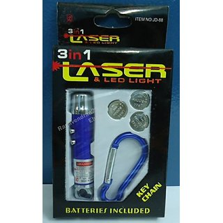 3 in 1 LASER LED  LIGHT KEY CHAIN