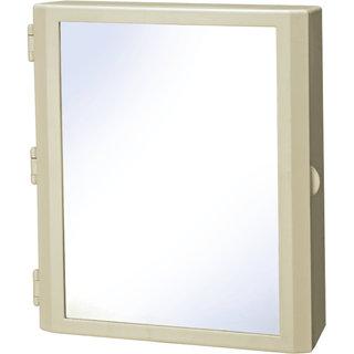 Cipla Plast Flora Bathroom Mirror Cabinet - Ivory