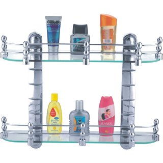 Buy Cipla plast Bathroom Glass Shelves Set (20x5.5) Online ...