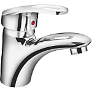 CARBON (single lever basin mixer with 450 mm braided connection pipe and provisi