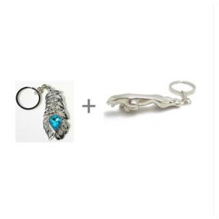1 OMG Metal Keychain  1 Jaguar Metal Keychain For Car  Bike Combo Offer