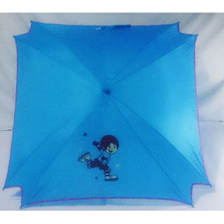 Styalish kite shape Kids Medium Size Stick Umbrella for Summer Monsoon