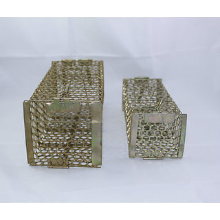 Combo Rat Trap Mouse Cage, Catcher, Zinc Polished,1 for Mouse and 1 for Rats