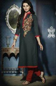 Designer Cotton Kurti with work + Cotton Inner