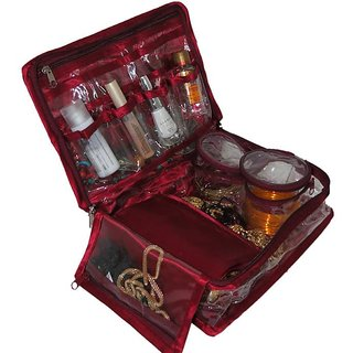 ADDYZ Travel Jewellery Makeup and Cosmetic Case