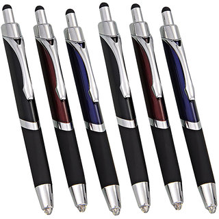 Write in the Dark Executive Click Ball Pen with stylus Torch Set of 6pc