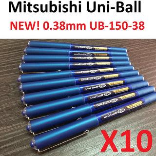 Uniball Eye UB150-38 Roller Pen - Set of 10 (Blue)