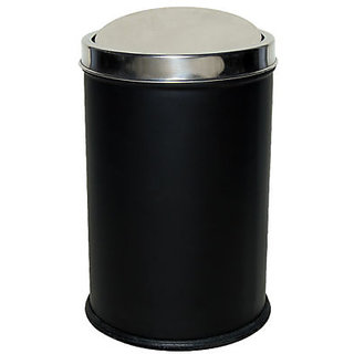 King International - Swing Dustbin Black - 10 Ltr (8X12)