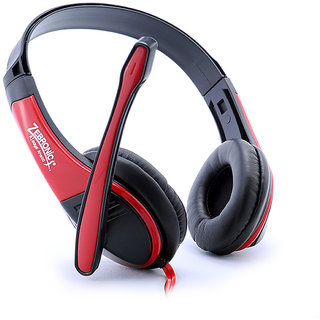 Zebronics Bolt Headphone RED Headphones   Earphones