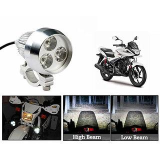 TAKECARE  3In1 Spot Beam 6000K 35W 3 Led Light+Flasher White FOR TVS STAR CITY PLUS