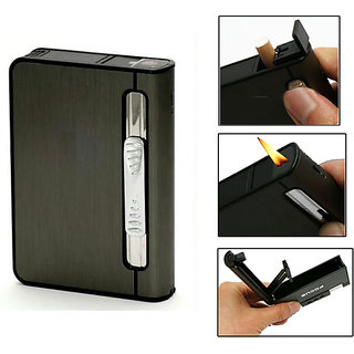 Focus 2 in 1 Automatic Cigarette Holder Case and Refillabe Gas Lighter