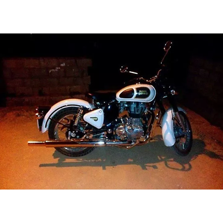 Bikers World Customised Free Flow Punjab Silencer For Enfield Bullet Classic 350