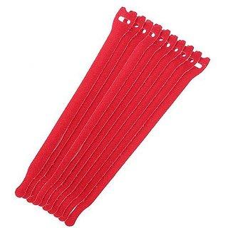 Futaba Velcro Ties - Red Pack of Ten