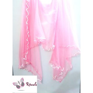 Fashion Stylish Net Stole-PINK