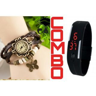 Led Watch with bracelet watch..combo