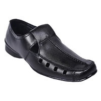 Knoos Men Black Leather Sandals