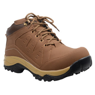 Knoos Men's Tan Synthetic Leather Boots